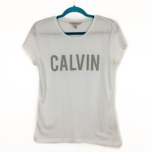 Calvin Klein Spell Out Graphic Shirt Sleeve Tee